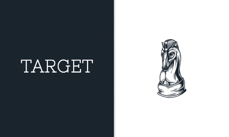 Chess Tactics Strategy Challenge Planning Horse Graphic Imagens