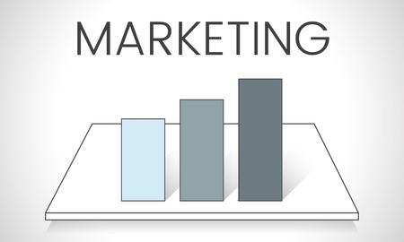Illustratie van bedrijfsgrafiekanalyse Stockfoto
