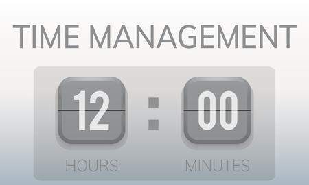 時間管理の貴重なカウント ダウン タイマー グラフィックを無駄にしません。