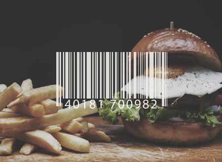 Barcode Line Number Code Banner Vector Stock Photo