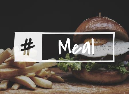 Eten maaltijd gastronomisch recept eter keuken woord Stockfoto