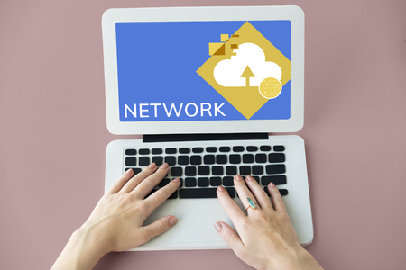 Network Internet Conncetion Technology Concept Stok Fotoğraf