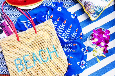 Beach summer holiday object collection
