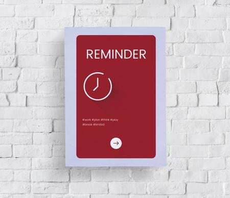 Concept de temps sur un mur de briques blanches Banque d'images - 80857653