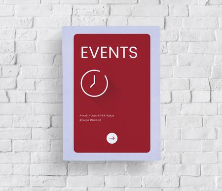 Concept de temps sur un mur de briques blanches Banque d'images - 80857651