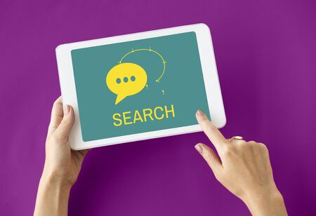 internet search: Connection Digital Life Social Network Icon Stock Photo