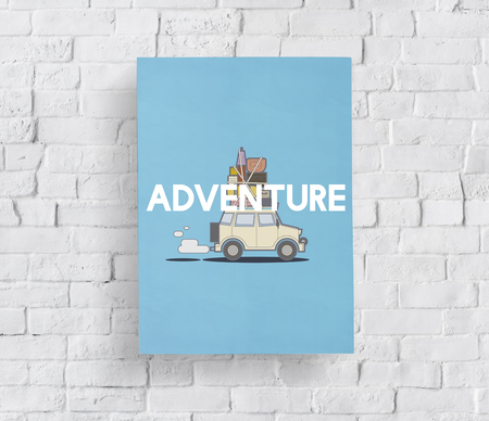 wanderlust: Illustration of discovery journey road trip traveling