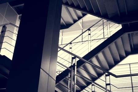居住者の階と階段の設計 写真素材