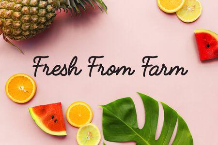 Variatie van voedzaam sappig fruit