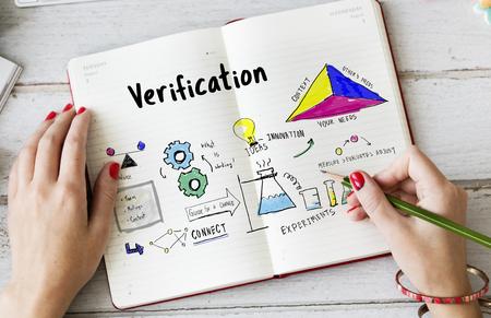 Information Case Study Research Verification Analysis Sketch Stock Photo