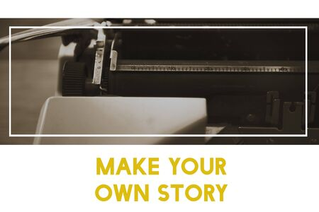 Make Your Own Story Word with Typewriter Background