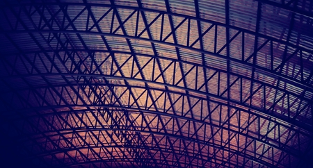 Exterior Engineering Mantenance Roof Aluminium Stock fotó