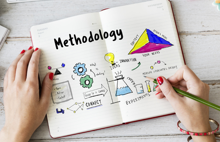 Science lab process chart diagram sketch Stock Photo