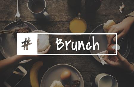 Breakfast food recipe greedy foodie word 스톡 콘텐츠