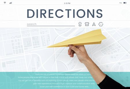 papercraft: Map GPS Direction Navigation Route Travel