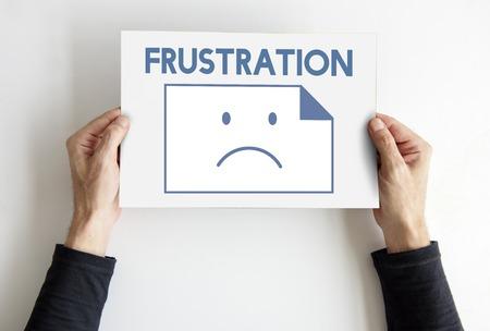 Droevigheid Mislukt Probleem Recessie Down Frustration Icon