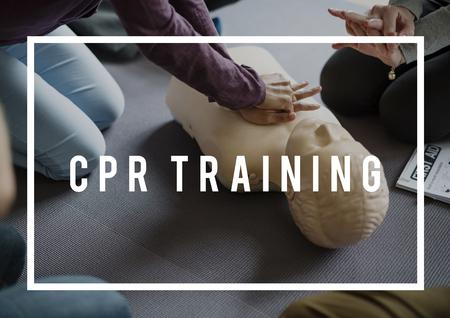 CPR Training Demonstrationsklasse Notfall Rettung Standard-Bild - 80936246