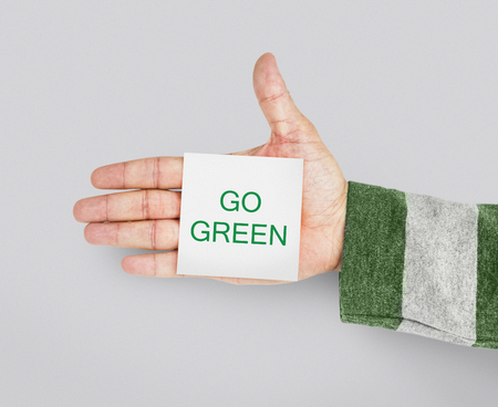 attached: Go Green Responsibility Nature Environment Word