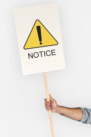 Notice Alert Attention Danger Error Warning