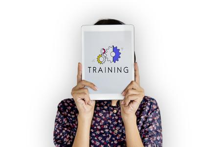 教育開発進行中の訓練イラスト 写真素材