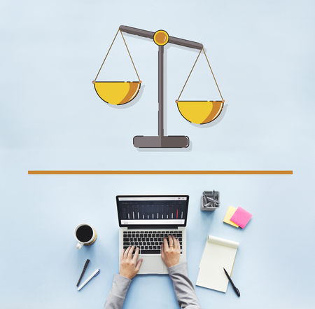 Illustration of justice scale rights and law Stock Illustration - 80815118