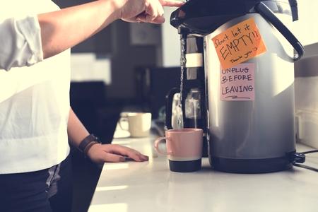 Startup Business People Making Coffee During Office Break Time Zdjęcie Seryjne