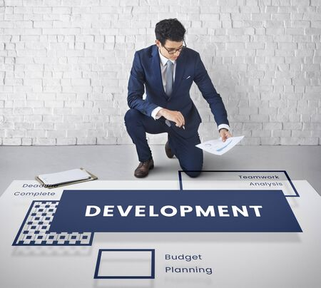 expand: Strategy and plan is help business development Stock Photo