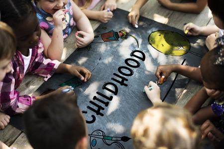 Kids Education Knowledge Field Trip Summer Camp Graphic Stock fotó