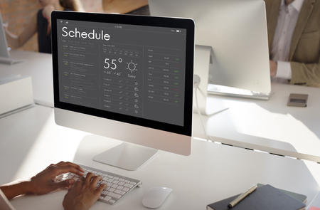 Graphic of personal organizer appointment Schedule on computer