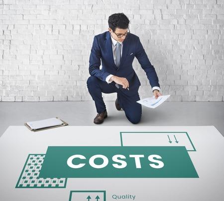 Kosten budget geldstroom financiering geld Stockfoto - 80816067