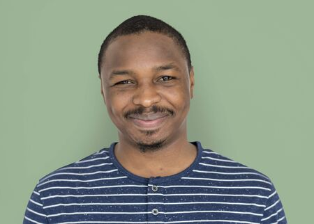 African Descent Man Smiling Happy Stock Photo