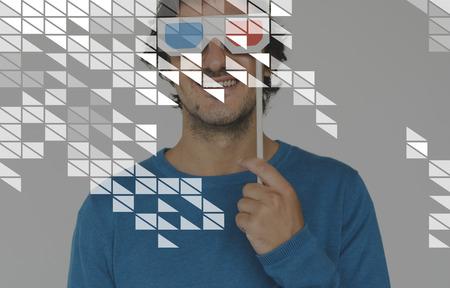 mosaic: Triangle Geometric Graphic Pattern Template