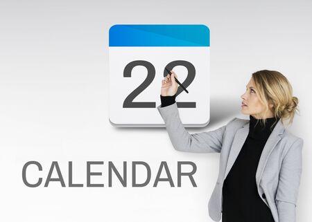 カレンダー スケジュール日付ビジネス グラフィックス