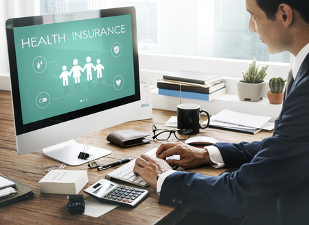 Insurance Coverage Mix Reimbursement Protection Concept Stok Fotoğraf