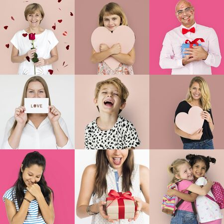 Set Diversity People with Heart Love Studio Collage