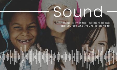 音楽を聴く子どもたちネットワーク接続図