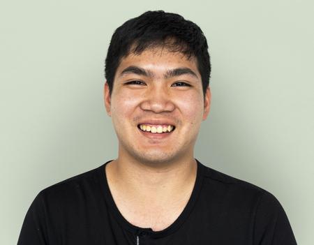 Young Adult Man Face Smile Expression Studio Portrait Reklamní fotografie