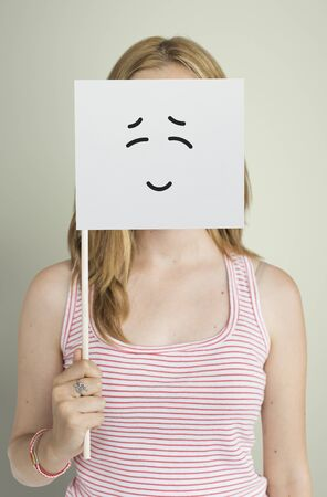 impressed: Drawing Facial Expressions Emotions Feelings Stock Photo