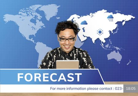 Weather Forecast Special Report Concept Фото со стока