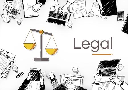 Illustration der Gerechtigkeit Skala Rechte und Gesetz Standard-Bild - 80856359