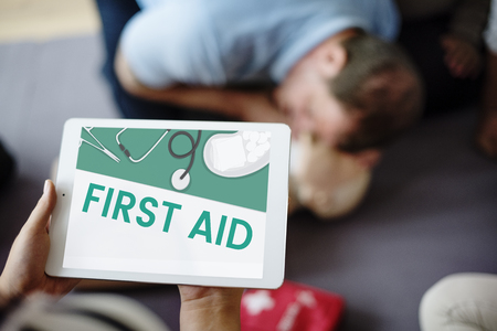 Illustration of healthcare medication first aid kit Stock Photo
