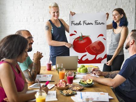 Organic Vegetables Fresh Tomato Concept Reklamní fotografie