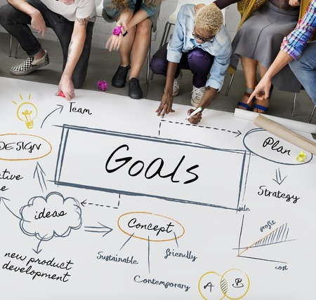 People with goals concept Stockfoto