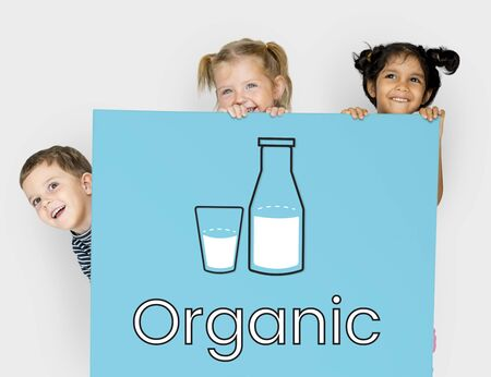 Organic Dairy Product Fresh Milk Word Graphic
