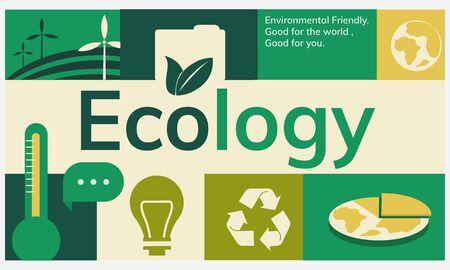 Milieubescherming energiebesparende grafisch Stockfoto
