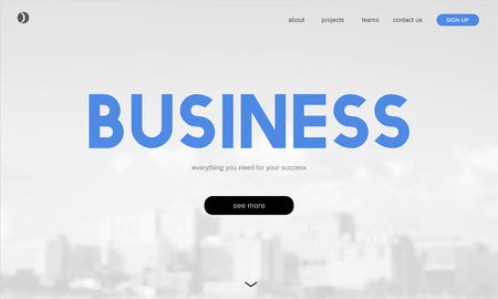 Website with business concept Stock Photo