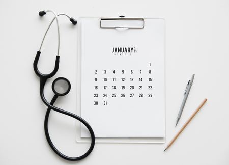Stethoscope Doctor Calendar Pen Pencil