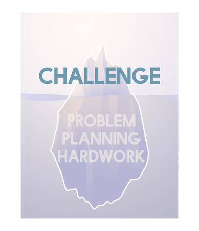 Probleem Planning Hard Work Achievement Iceberg Graphic Stockfoto