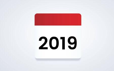 Illustratie van planning van de kalender Stockfoto
