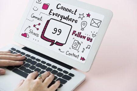 커뮤니케이션 스테이 커넥 티드 커뮤니티 개념 스톡 콘텐츠